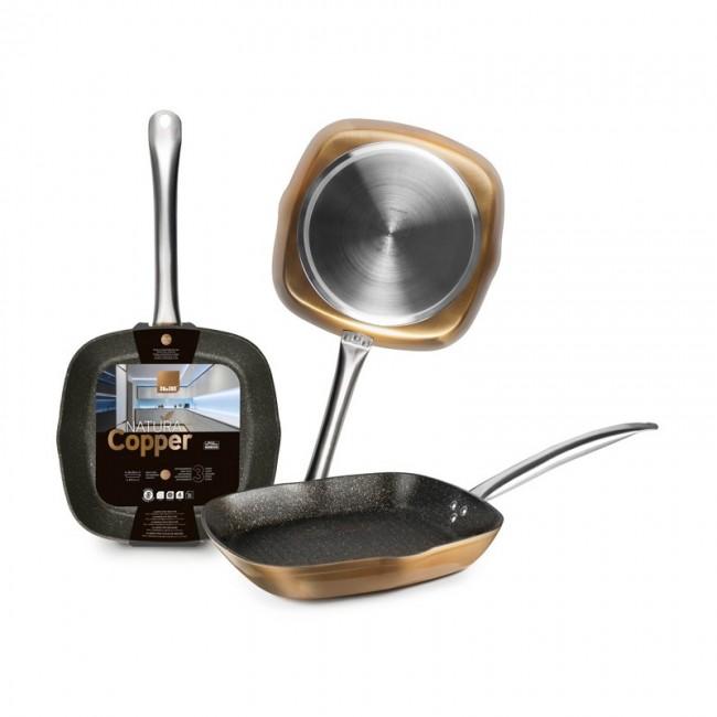 Marmite braisière basse à couvercle - faitout induction en inox 18/10 - Ø 20 cm - Chef Classic - Lacor