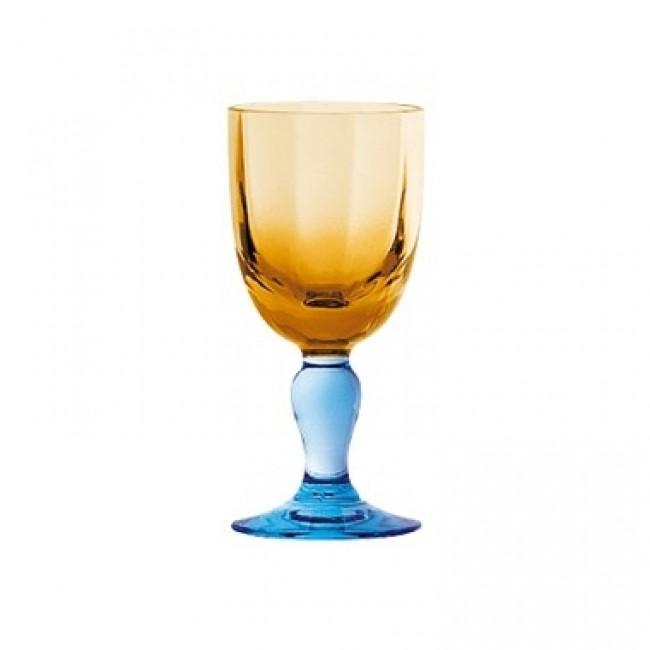 Crystalline glass mouth blown porto glass 2.4 oz / 7.8 cl George Sand - set of 6