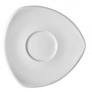 Sous-tasse triangle à café blanche 11cm