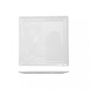 Assiette carrée blanche 18 x 18cm en porcelaine - A l'unité - Kara - Cosy & Trendy