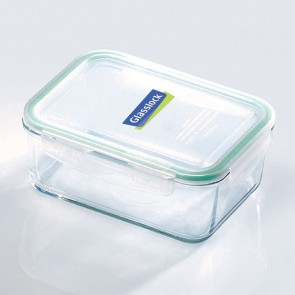 Rectangular food container with airtight lid 110cl/ 37oz (oven safe)- Micro-waves - Glasslock