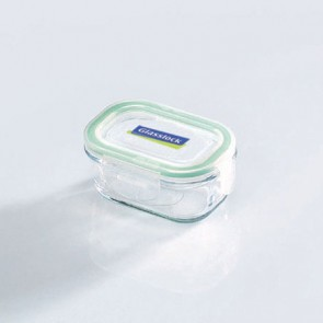 Rectangular food container with airtight lid 15cl/ 5oz  (oven safe) - Micro-waves - Glasslock