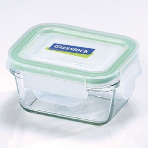 Rectangular food container  with airtight lid 18cl/ 6oz (oven safe) - Micro-waves - Glasslock
