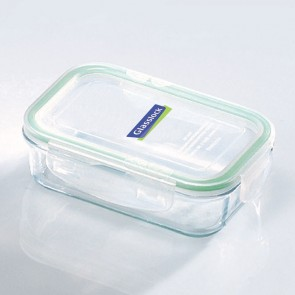 Rectangular food container  with airtight lid 40cl/ 14oz (oven safe) - Micro-waves - Glasslock