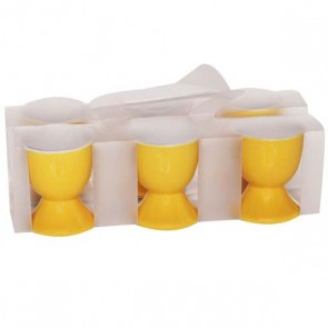 Eggcup in yellow stoneware - Batch of 6