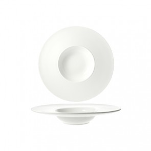 "Risotto plate 6x1"" / 14.8x3cm white - Singly sold"