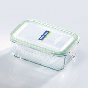Rectangular food container with airtight lid 71.5cl/ 24oz (oven safe) - Micro-waves - Glasslock