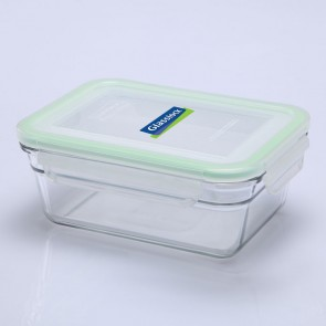Rectangular food container  with airtight lid 48cl / 16oz (oven safe) - Oven - Glasslock