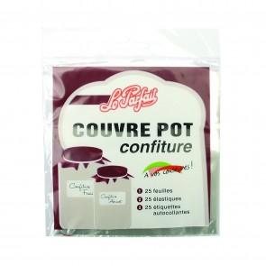 Set of 25 jam pot cellophane covers