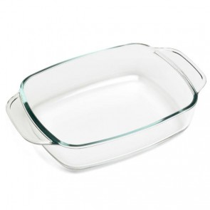 "Rectangular glass oven dish 27 x 17cm / 10.6 x 7"""