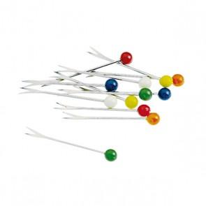 Pique à escargot 2 pointes - Lot de 12 - Coloris assortis - Paderno