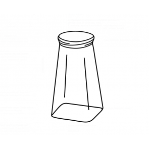Salt and pepper replacement R62469 bottle small format for Ref 62465