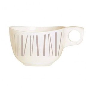 Beige zenix cup 7.4oz / 22cl with taupe-coloured scattered stick design