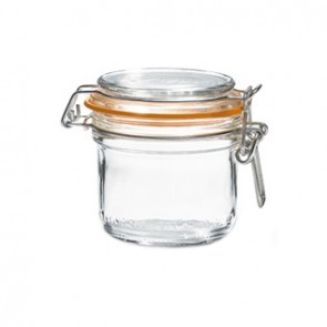 Glass terrine jar 7oz / 200g with 70mm airtight gasket