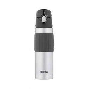 Stainless steel drink bottle with ergonomic grip 17oz / 50cl