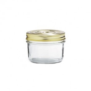 Glass terrine jar 12oz / 350g with 100mm screw lid