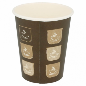 Brown cardboard cup 8 oz / 240 ml for hot drinks - Set of 50
