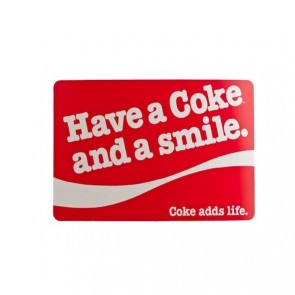 "Coca Cola PVC table mat 43x30cm / 16.9""x 11.8"" - Red Smile"