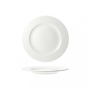 "Round presentation plate 13"" / 32.8cm white - Singly sold"