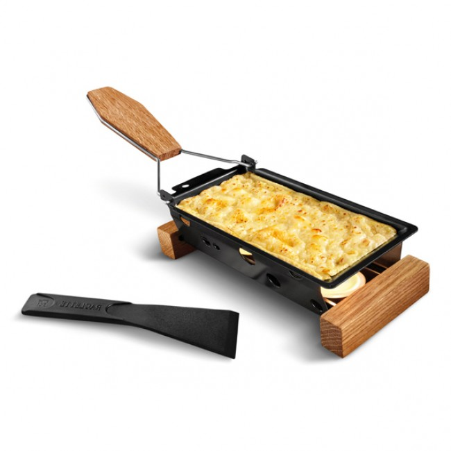 Cheese Raclette Grill With Wooden Support Black Life