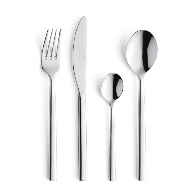 Mocha spoon - 3mm thick 18/0 stainless steel - Set of 6 - Carlton - Amefa