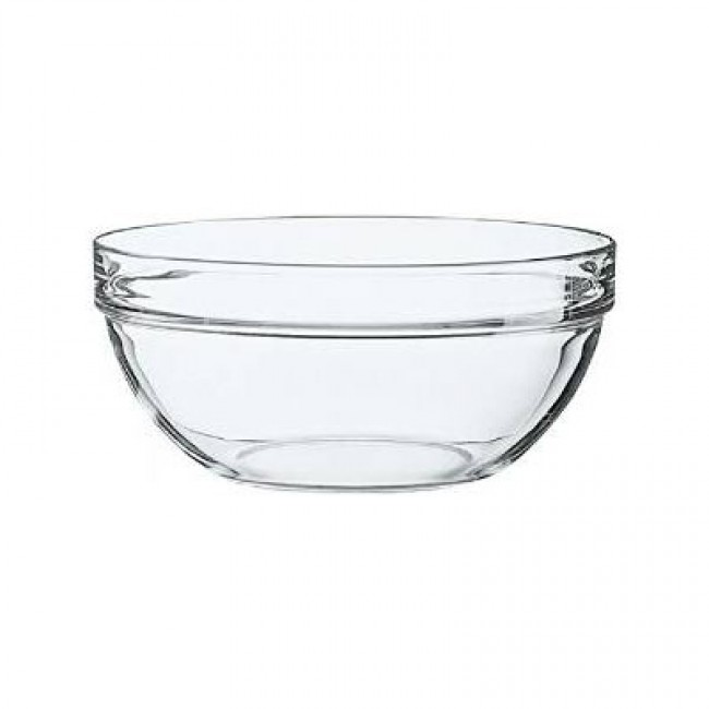 Stackable glass salad bowl 29cm - Saladier Empilable - Arcoroc