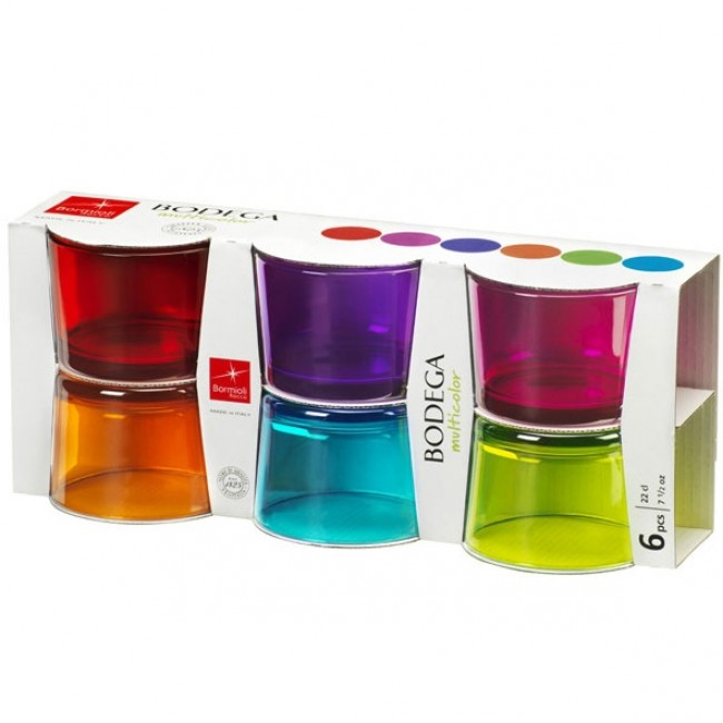 Coloured appetizer glass 7 oz / 20 cl - Set of 6