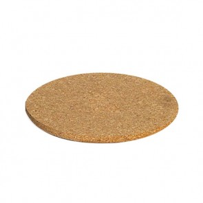 Plate mat round in cork diametre 20cm - set of 3