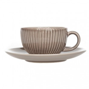 Mug and Saucer 10oz / 29cl brown patina - Singly sold