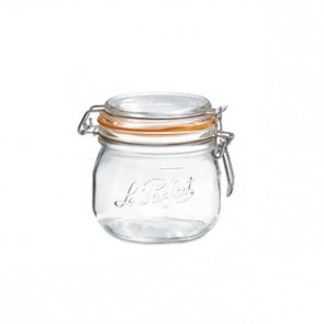 Glass canning jar 17oz / 0.5L with 85mm airtight gasket