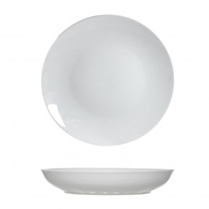 Round white soup plate 21 cm porcelain - Set of 6