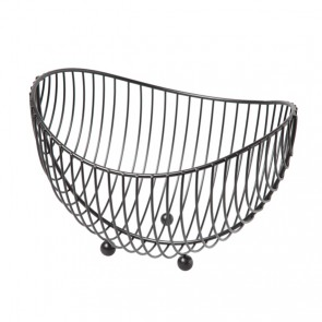 Fruit basket chrome black 25.2 x 22 x 27.5 cm / 10 x 9 x 11""