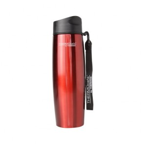 Stainless steel insulated mug with strap 50cl / 17oz red
