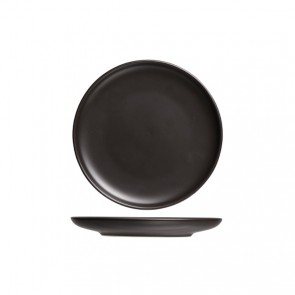"Round flat plate 10"" / 26.5cm black - Singly sold"