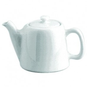 Standard porcelain teapot 6 servings 25oz / 75cl white