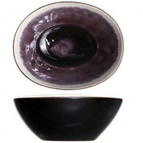 """Cup black and purple 4"""" / 9cm - Set of 6"""