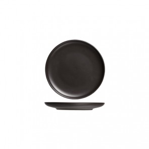 "Round flat plate 6"" / 15cm black - Singly sold"