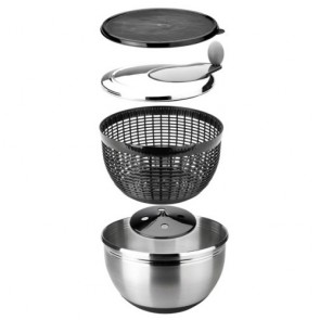 Stainless steel 18/10 salad spinner