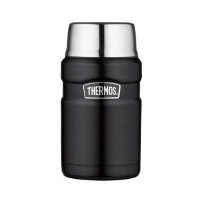 Stainless steel insulated food food flask 71cl / 24oz matte black