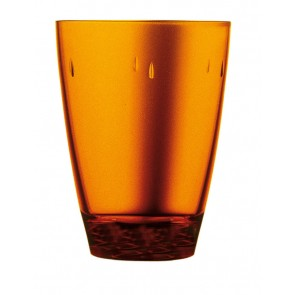 Amber polycarbonate goblet 45cl – Sold by 6