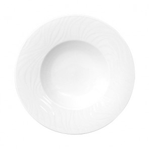 "Deep round plate white 8"" / 22cm - Set of 6"