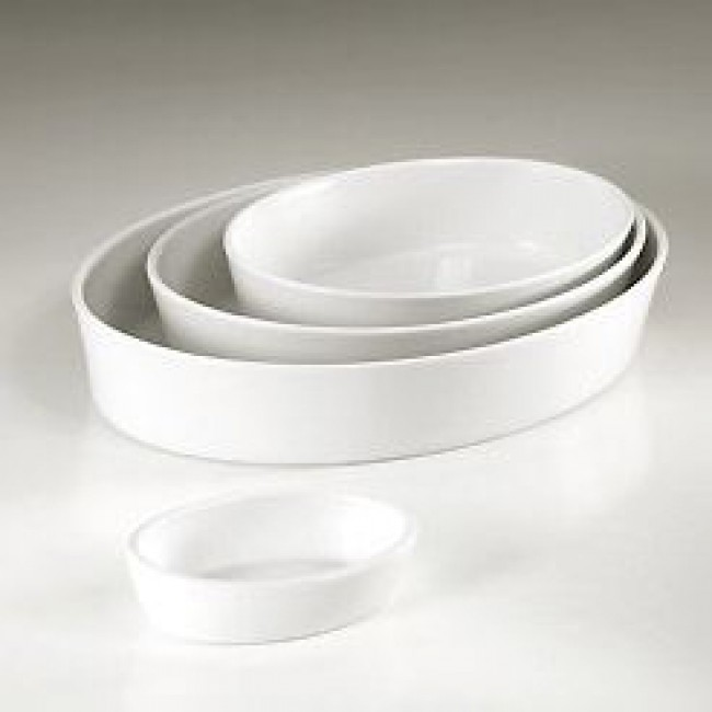 Plat sabot ovale blanc 37x27cm en porcelaine - Collection Génerale - Pillivuyt