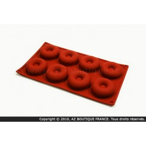 Moule flexible en silicone - 8 savarins - Flexipad - Paderno