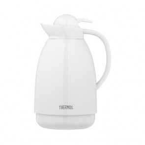 Stainless steel insulated carafe 34oz / 1L white