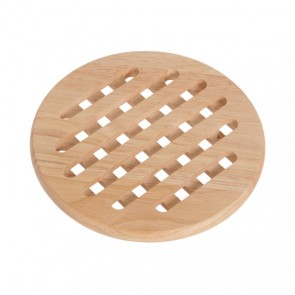 Plate mat round in wood 19,5cm x 1,5cm