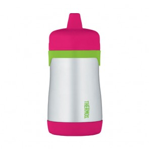 Rigid sippy cup 10oz / 29cl pink and green