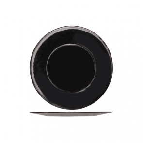 "Round presentation plate 12"" / 31cm black - singly sold"