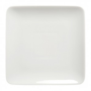 "Square dessert plate 8"" / 20cm white - singly sold"