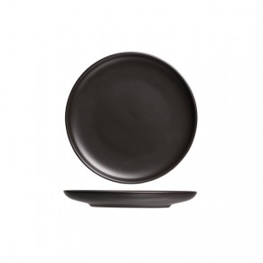 "Round flat plate 9"" / 23.5cm black - Singly sold"