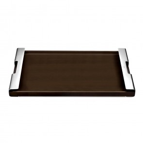 Wooden serving tray mirror finish